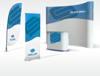 stampa roll up, bandiere, desk, wall, totem per expo