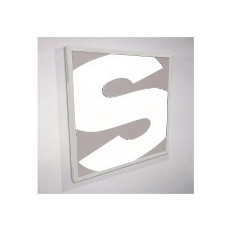 Rótulo luminoso LED con placa de acero tallado
