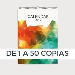 Calendario bajas tiradas con espiral