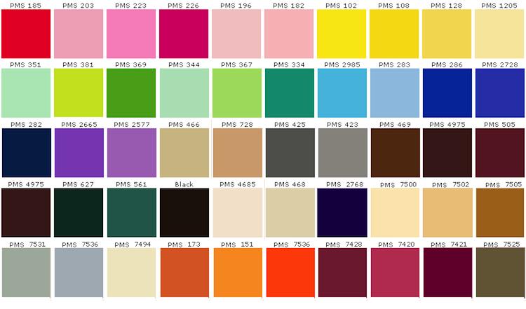Colores modelo pantone qu son y c mo imprimirlos el blog de l for Asian paints exterior emulsion colour shades