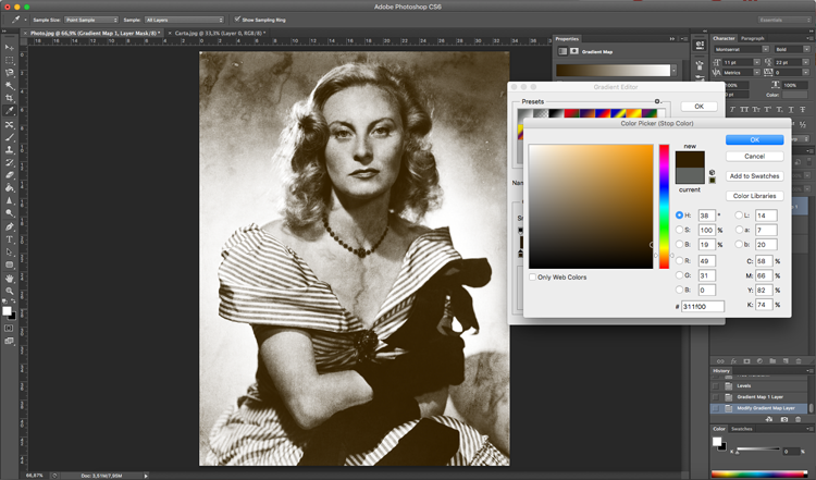 Photoshop efecto antiguo filtros