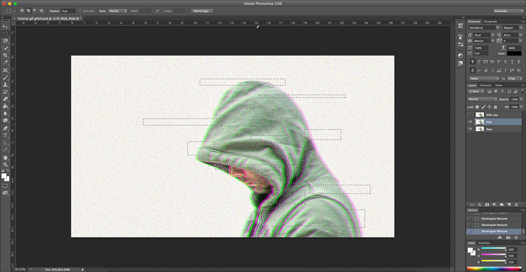 Tutorial photoshop: gif animado efecto glitch
