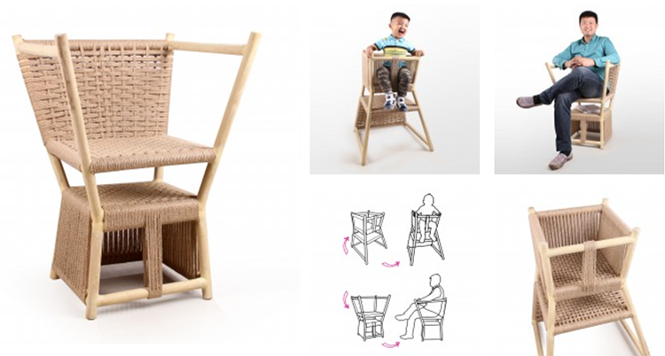 A' Design - Grow up Multifunctional Chair by Yong Zhang,Ya-nan Shi