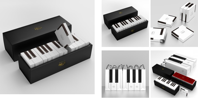 A' Design - Marais Piano cake packaging by Kazuaki Kawahara