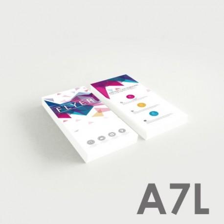 Folletos A7L (5,2 x 14,8 cm)