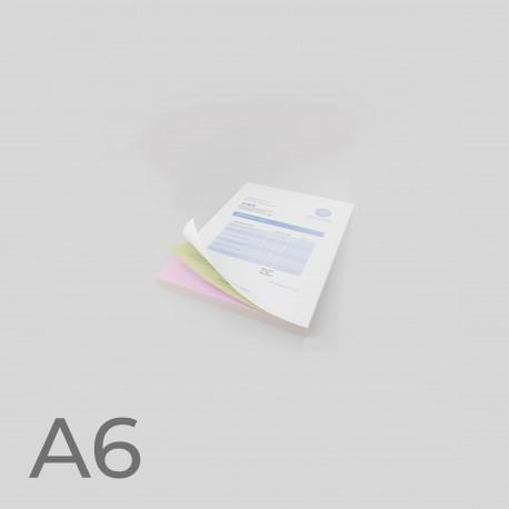 Talonarios autocopiativos A6
