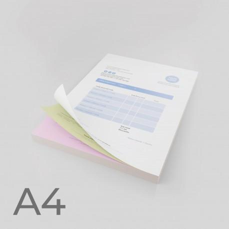 Talonarios autocopiativos A4