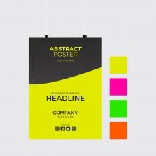 Carteles papel neon