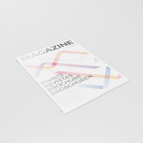 Revistas A4 (21 x 29,7 cm) - encuadernación grapa omega