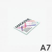 Revistas grapadas A7 horizontal (10,5 x 7,4 cm)