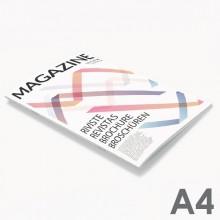 Revistas grapadas A4 (21 x 29,7 cm)