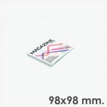 Revistas grapadas 9,8 x 9,8 cm