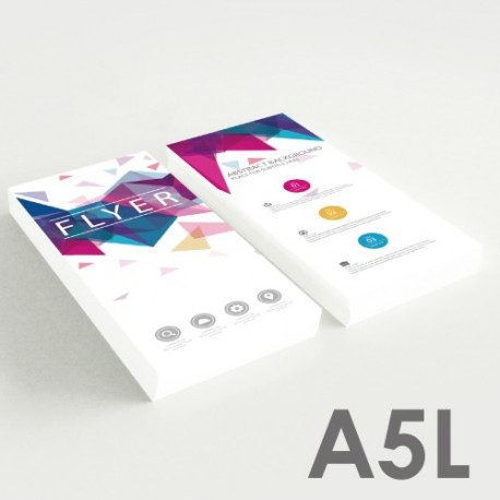 Folletos A5L (10,5 x 29,7 cm)