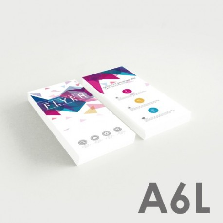 Flyers A6L (7,4 x 21 cm)