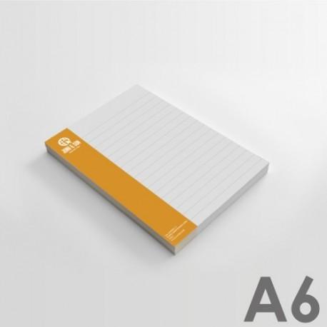 Bloc de notas A6 (10,5 x 14,8 cm)