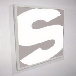 Insegna luminosa a parete con alluminio