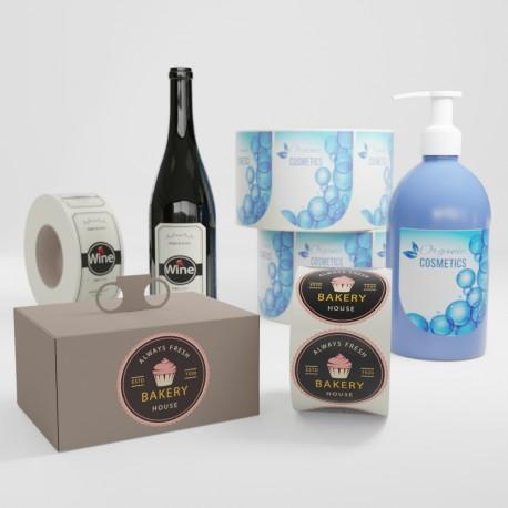 Etichette per bottiglie e confezioni