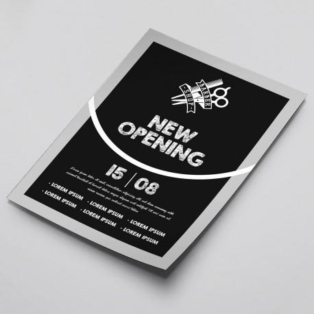 volantini per inaugurazione negozio