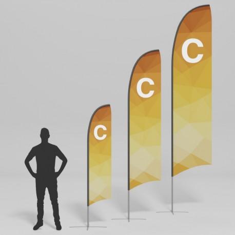 Bandiere a coltello - modello C