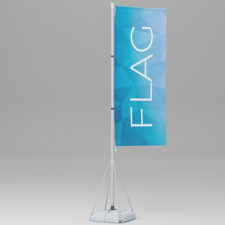Bandiera mobile con base riempibile ad acqua