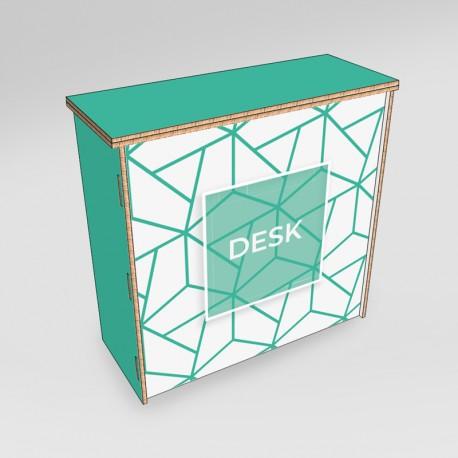 Desk in cartone - fronte