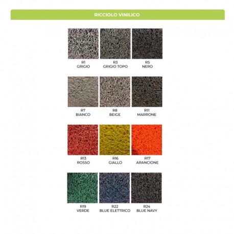 Colori disponibili per il ricciolo vinilico. . Il prodotto viene realizzato con questi colori: consulta questa palette per la tua scelta cromatica e indica nella note dell'ordine quali sono i codici colore da utilizzare.