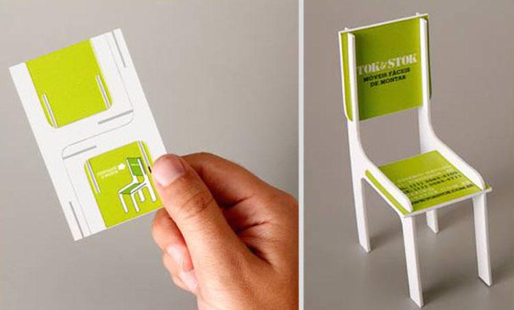 Favori 10 idee per realizzare biglietti da visita creativi CP91
