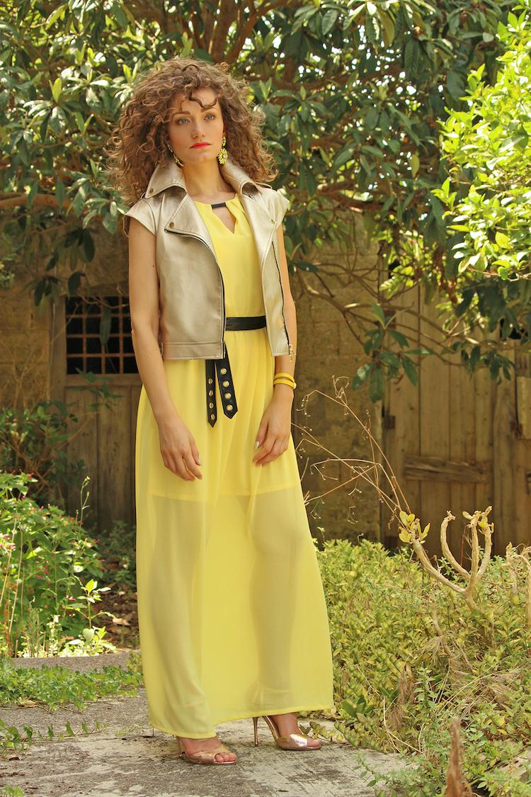 Chiara Angiolino outfit giallo