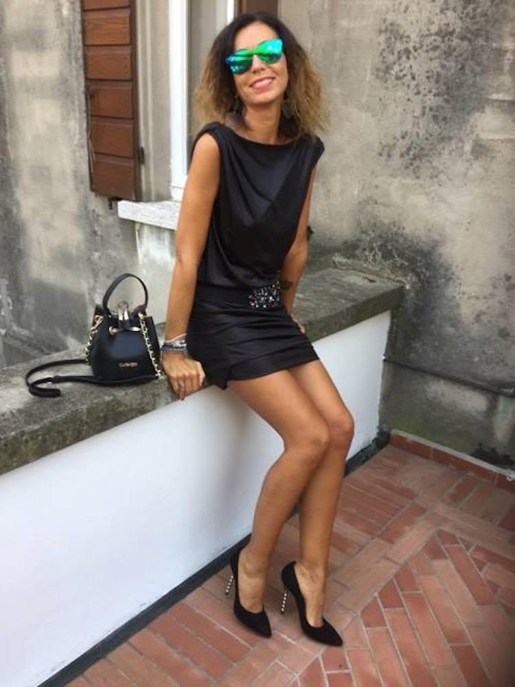 outfit nero Rossella Santini