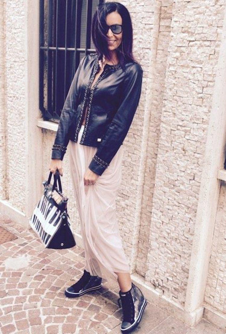 Rossella Santini outfit mezza stagione