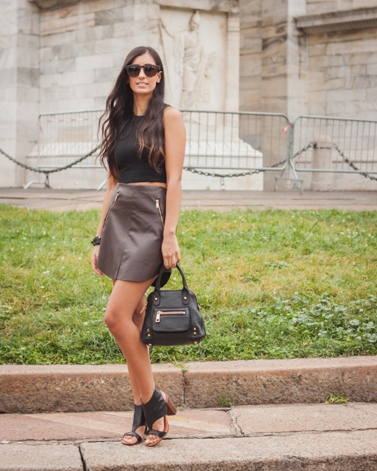 Benedetta Catalano fashion blogger total black