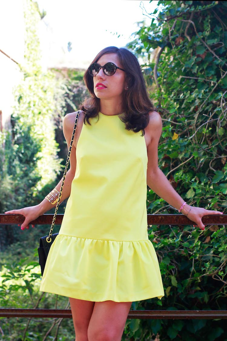 Iolanda Corio fashion blogger outfit giallo