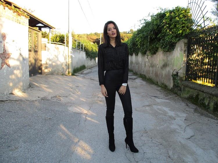 Mariateresa Scotti outfit nero