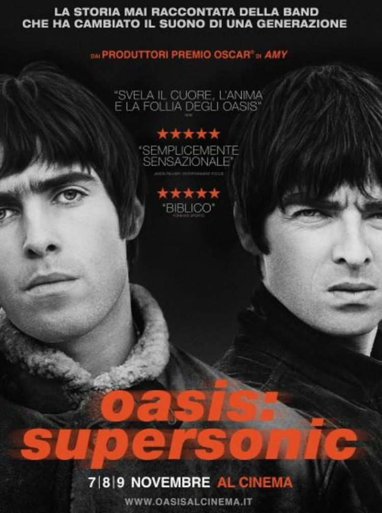 Oasis locandina documentario Supersonic