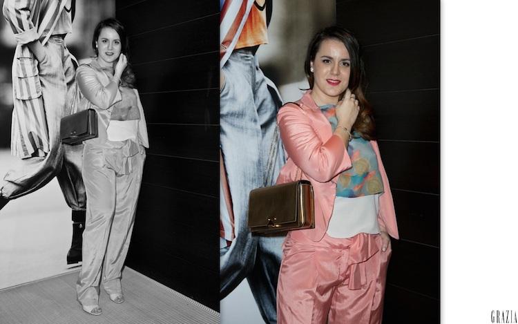 look in rosa Marzia Amaranto