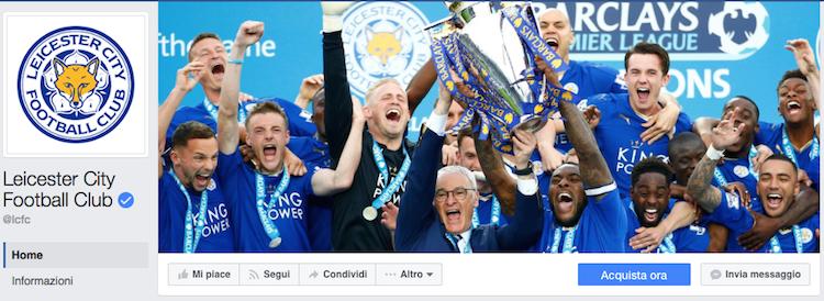 pagina Facebook Leicester City