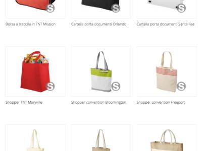 borse e shopper personalizzabili per fiera
