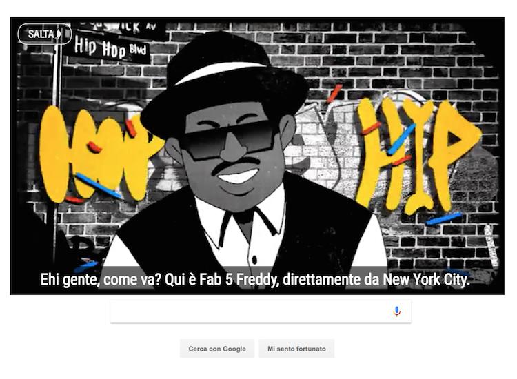 Doodle di Google celebra hip hop