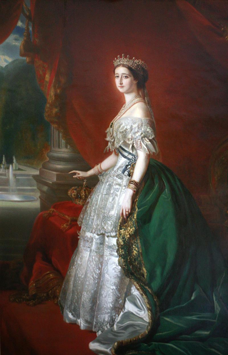 Etienne Billet, L'imperatrice Eugenia, XIX secolo, Musee de la Marine, Marsiglia