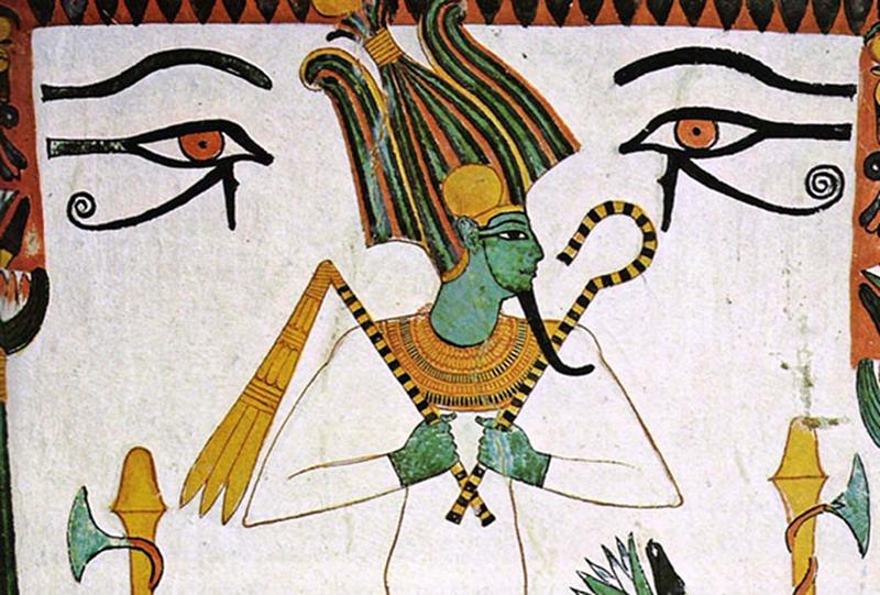 Osiride fra due nebridi. Tomba di Sennedjem (XIX dinastia egizia)