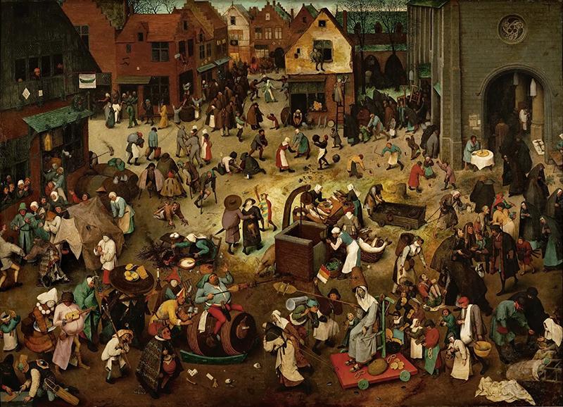 Pieter Bruegel il Vecchio, Lotta tra Carnevale e Quaresima , 1559 ca., Vienna, Kunsthistorisches Museum