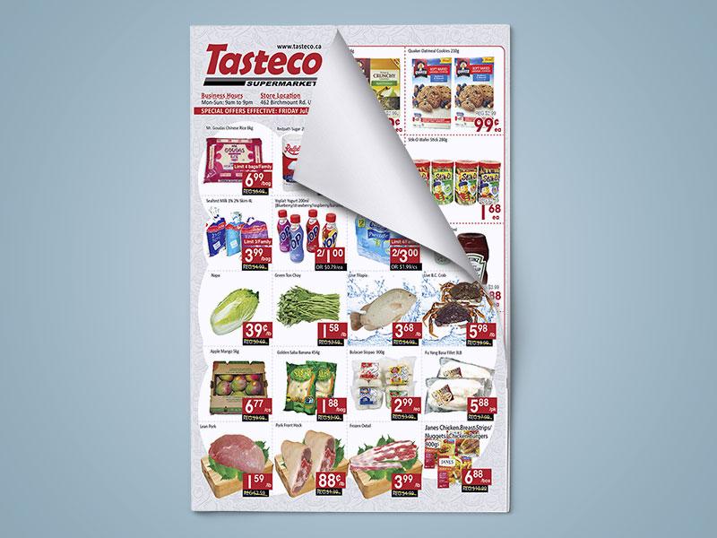stampa giornale per supermercato