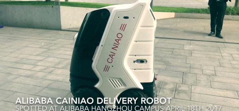 come funziona robot cainiao alibaba