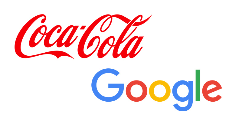 logotipo coca cola google