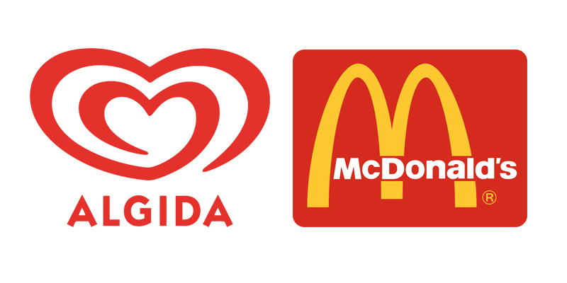 logotipo pittogramma algida mc donald