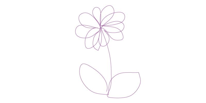 strumento matita fiore