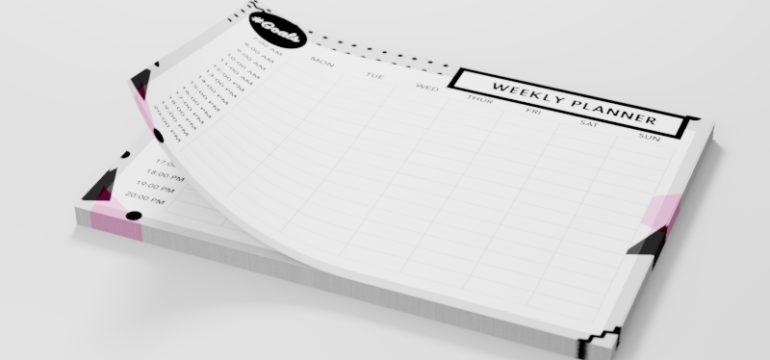 come personalizzare planner settimanali
