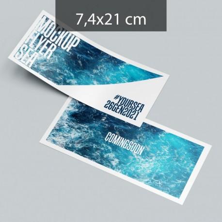 Volantini formato A6L (74x210 mm.)