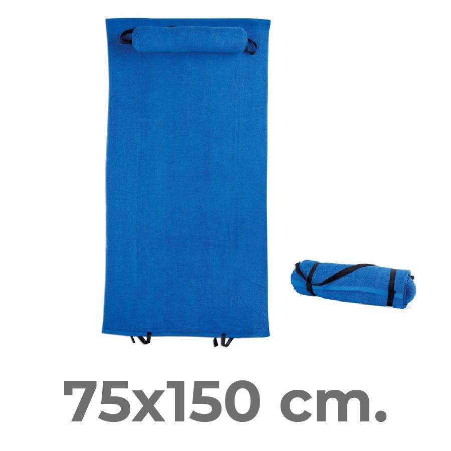 Telo mare con cuscino 150x75