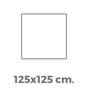 125x125 cm.
